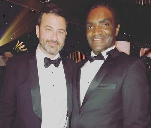 Terry Bryant com Jimmy Kimmel (Foto: Instagram)