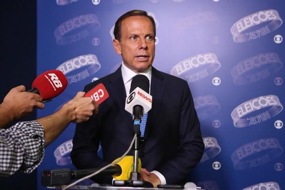 João Doria, candidato do PSDB ao governo de São Paulo — Foto: Celso Tavares/G1