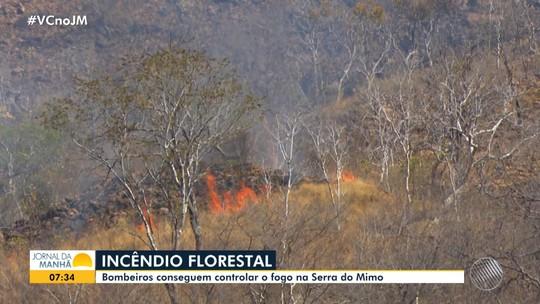 Bombeiros conseguem controlar incêndio na Serra do Mimo após oito dias de queimadas