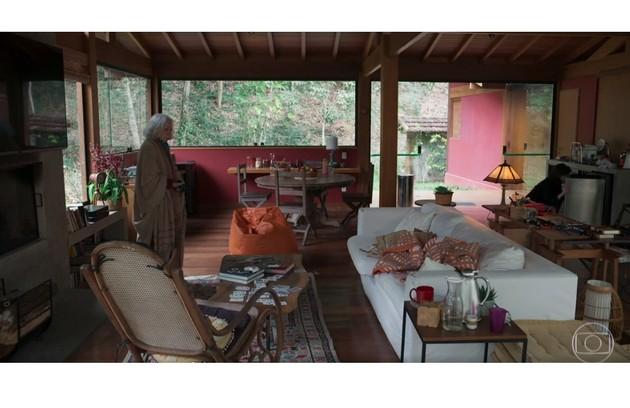 Fernanda Montenegro e Fernanda Torres gravaram 'Amor e sorte' na casa da família na Serra Fluminense (Foto: Reprodução)