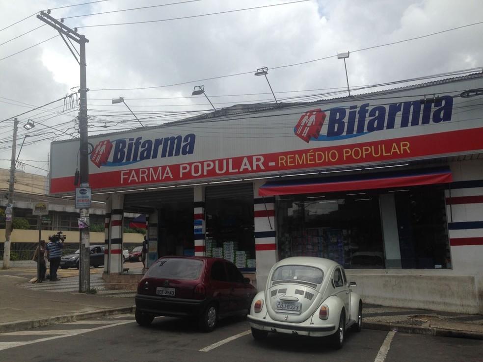 Criminosos tentaram assaltar farmácia no Jardim Paulista em Campo Limpo Paulista (Foto: Fernanda Elnour/TV TEM)