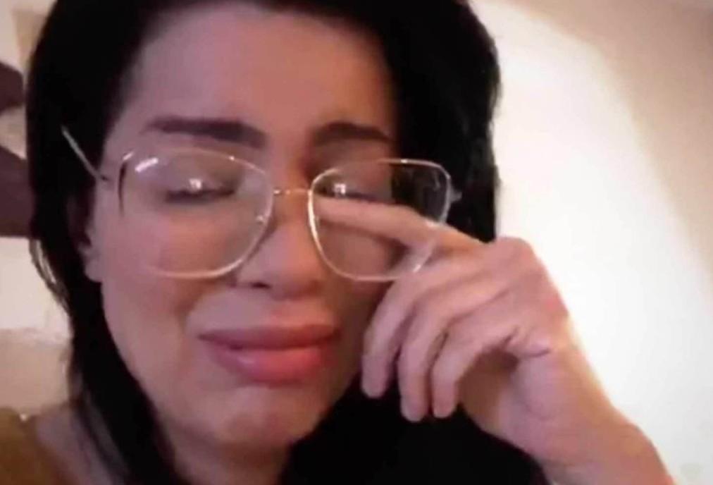 A brasileira Larissa dos Santos Lima em meio a lágrimas (Foto: Instagram)