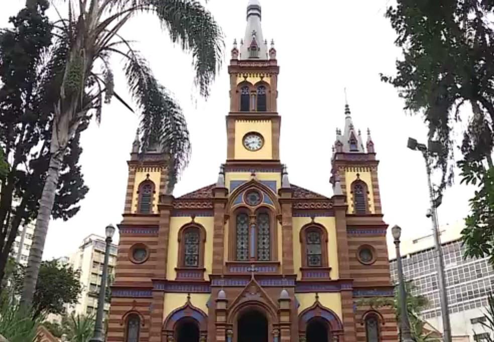Igreja São José é uma das mais tradicionais de Belo Horizonte. — Foto: Reprodução/TV Globo