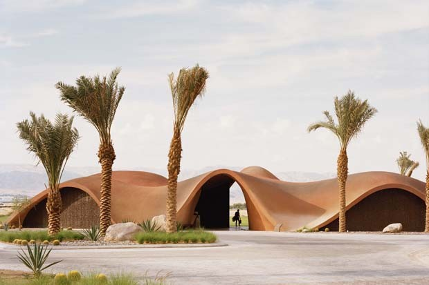 Clube de Golf recebe forma arquitetônica de Dunas na Jordânia  (Foto: Divulgação)