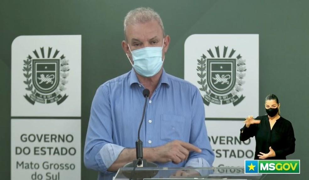 Secretario estadual de Saúde de MS, Geraldo Resende — Foto: Redes Sociais/Reprodução