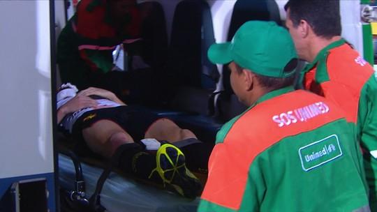 Após bater cabeça e ir ao hospital, Sander recebe apoio nas redes sociais; Sport tranquiliza
