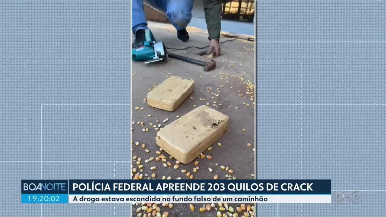 Polícia Federal apreende 2013 quilos de crack