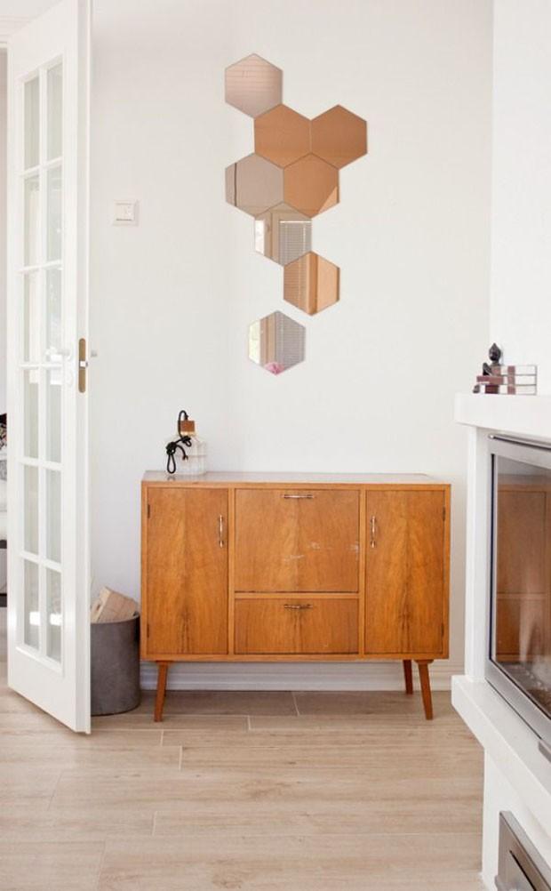 10 ambientes decorados com espelhos geométricos (Foto: Divulgação)