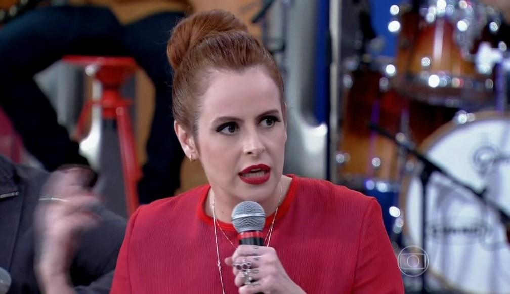 """Fernanda Young durante participação no programa """"Encontro com Fátima Bernardes"""", em 2013 â?? Foto: Reprodução/TV Globo"""