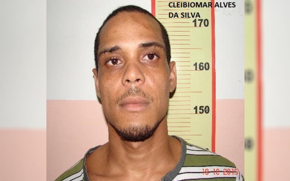Cleibiomar Alves da Silva, que fugiu da cadeia de Uruaçu, em Goiás — Foto: DGAP/Divulgação