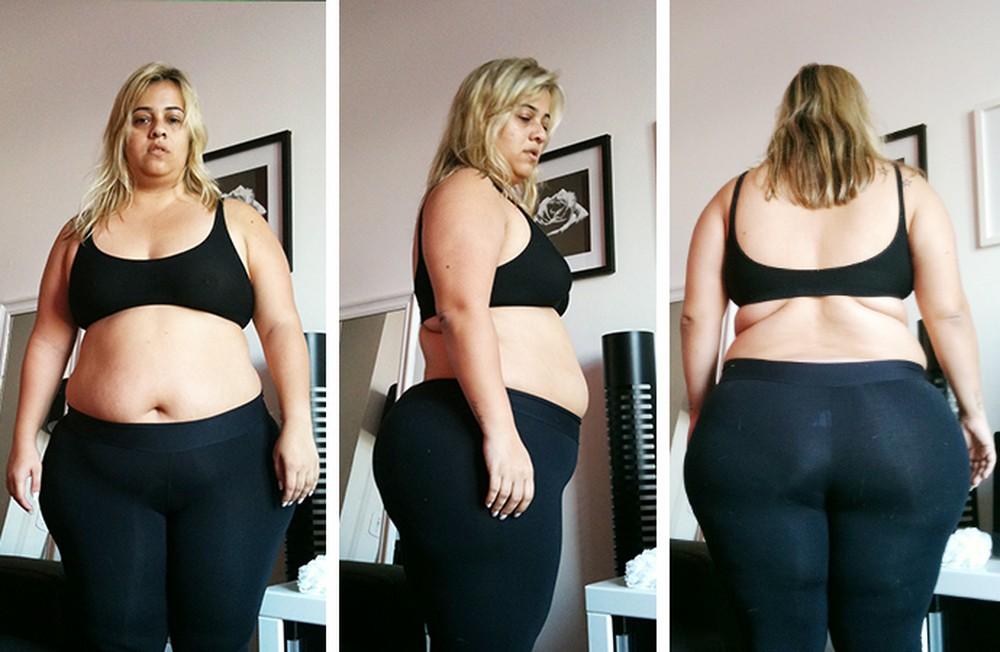 Com 75kg a mais, Carol era outra pessoa (Foto: Divulgação / Eu Atleta)