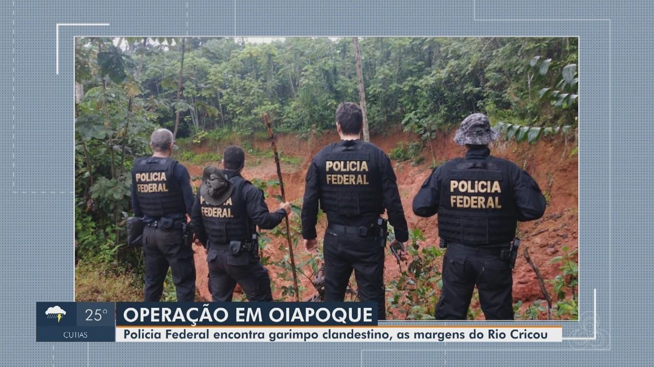 Polícia Federal fecha garimpo clandestino em área de fronteira em Oiapoque