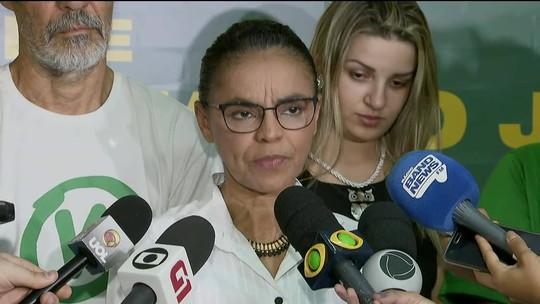 Fora do segundo turno, Marina diz que fará oposição ao presidente que for eleito