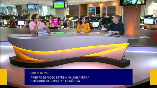 """Redação critica VAR no Brasileirão e compara com Inglaterra: """"Limitam ida ao monitor"""""""