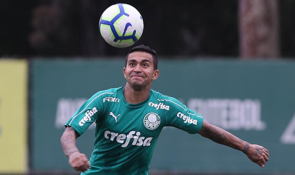 Dudu em treino do Palmeiras — Foto: Cesar Greco / Ag Palmeiras