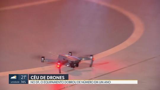 Número de drones no céu de Brasília mais que dobra em 1 ano, aponta Anac
