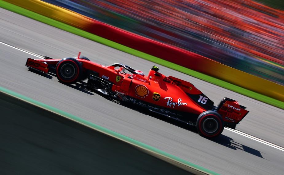 Charles Leclerc sobra e faz a pole position na Bélgica; Sebastian Vettel fecha dobradinha da Ferrari