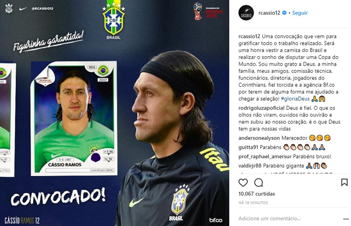 Veja as reações dos jogadores convocados pela seleção brasileira para Copa  do Mundo  5b26111cc8888