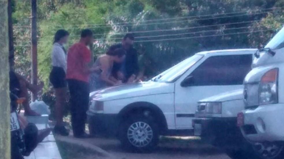Corretor de imóveis foi preso em flagrante nesta terça (12) em João Pessoa quando vendia casa sem autorização (Foto: João Ricardo/DDF)
