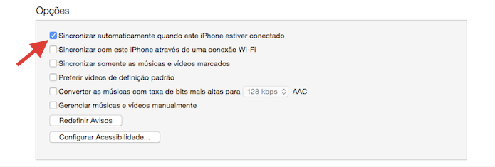 Desativando o backup autom?tico do iPhone no iTunes (Foto: Reprodu??o/Marvin Costa)
