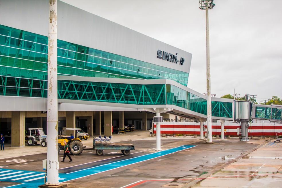 Aeroporto Internacional Alberto Alcolumbre, em Macapá — Foto: Maksuel Martins/Secom/Divulgação