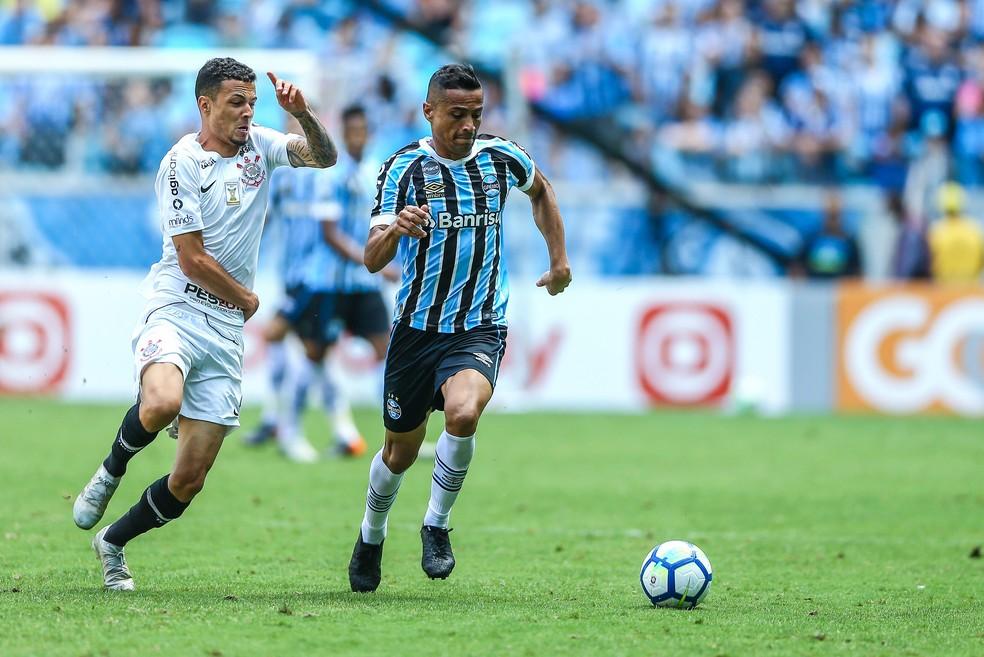 ... Cícero marcou seis gols em 43 partidas na atual temporada — Foto  Lucas  Uebel   265ce3ee26680