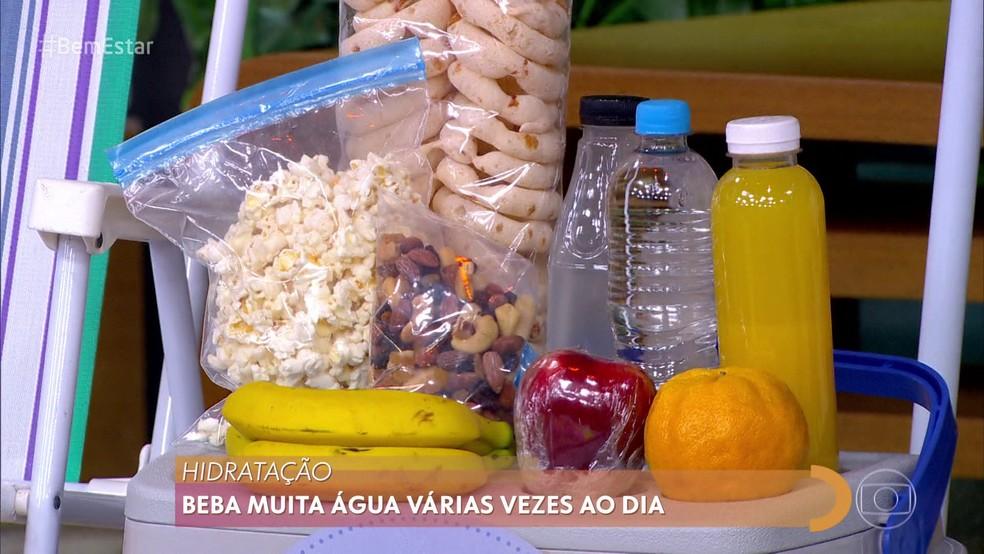 DICA 4 – SE HIDRATE — Foto: Reprodução/ TV Globo