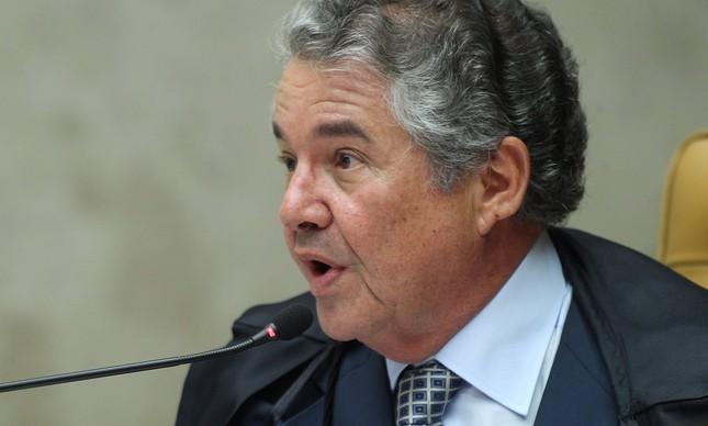 Marco Aurélio de Melo, durante a sessão do STF