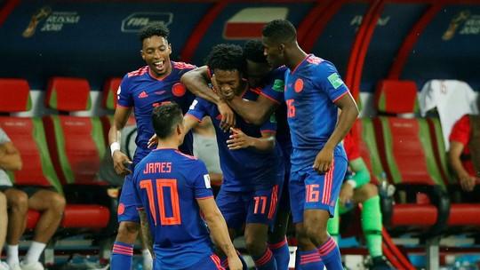 Assista aos gols da vitória da Colômbia por 3 a 0 sobre a Polônia