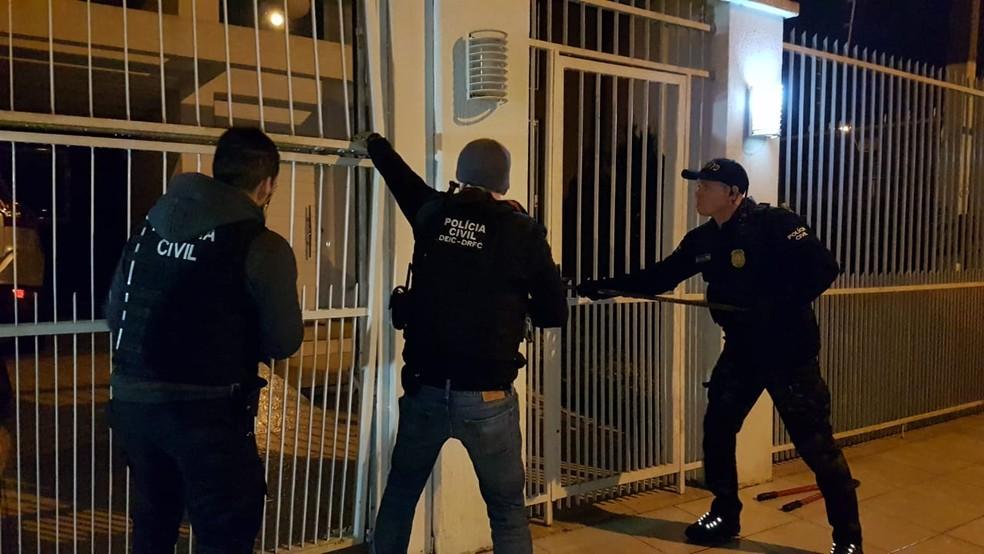 Ação foi realizada em diversas cidades da Região Metropolitana de Porto Alegre e na Fronteira Oeste (Foto: Polícia Civil/Divulgação)
