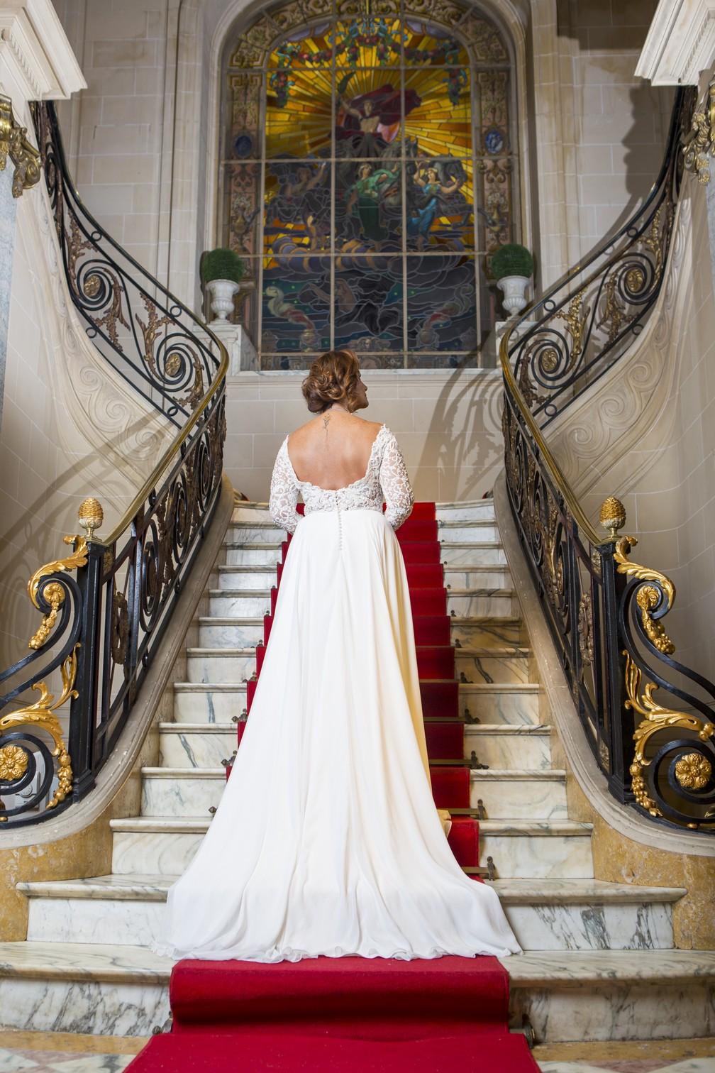 Ieda não ficou um espetáculo de noiva? A gente amou! — Foto: Artur Meninea