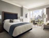Cinza predomina no décor de hotel com vista para o Central Park