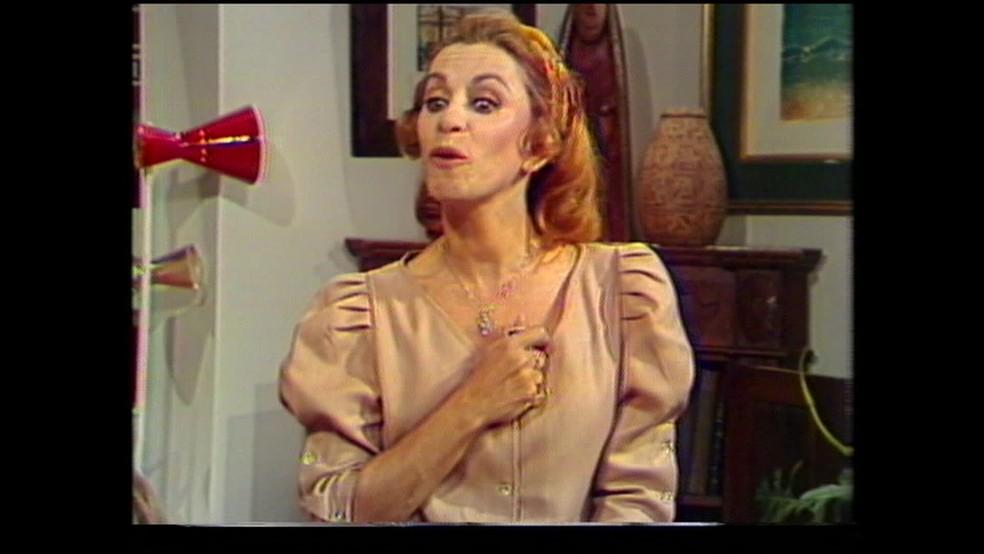 Aracy participou de várias novelas importantes dos anos 70 e 80 na TV Globo (Foto: Reprodução/TV Globo)