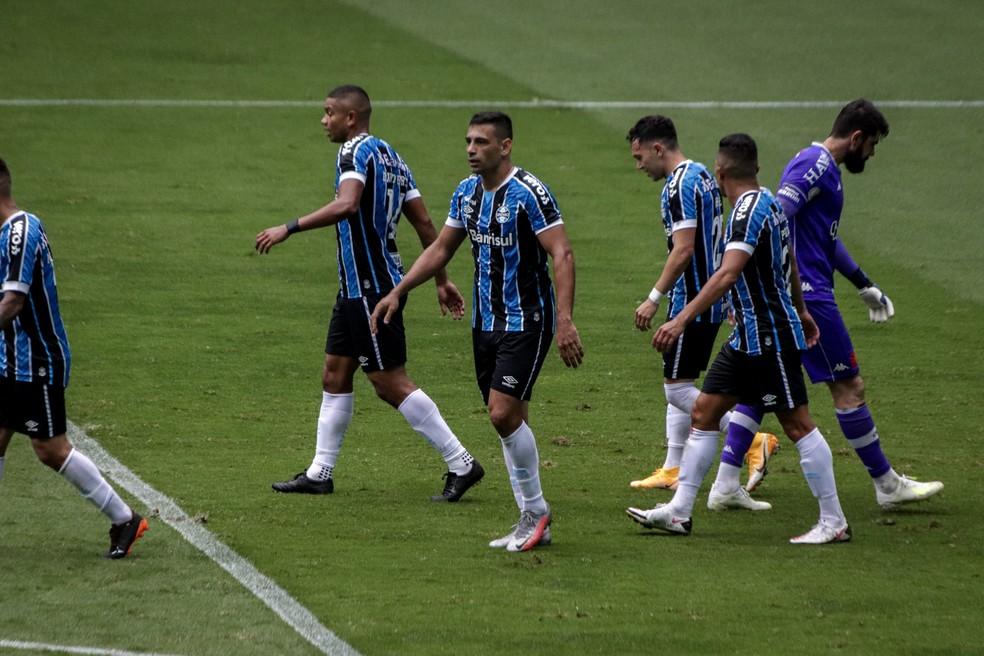 Diego Souza em Grêmio 4x0 Vasco — Foto: Lucas Bubols/ge.globo