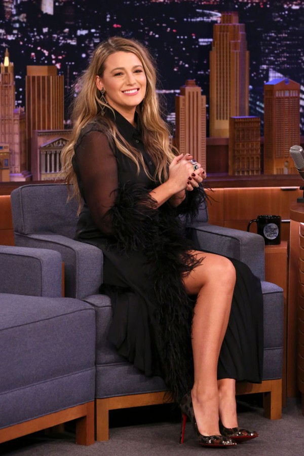 THE TONIGHT SHOW STARRING JIMMY FALLON -- Episode 1198 -- Pictured: Actress Blake Lively during an interview on January 29, 2020 -- (Photo by: Andrew Lipovsky/NBC/NBCU Photo Bank via Getty Images) (Foto: NBCU Photo Bank via Getty Images)