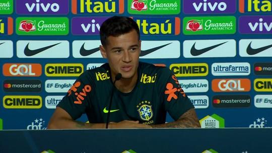 Coutinho fala em ''primeira final'' e minimiza dores de Neymar: ''Normal''