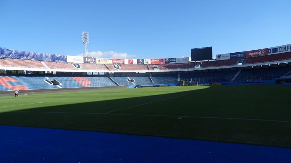 Nueva Olla, estádio do Cerro Porteño, pode ser palco da final da Libertadores — Foto: Guilherme Frossard
