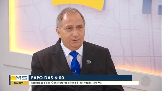 Presidente da Associação dos Construtores de MS é o entrevistado do Papo das 6