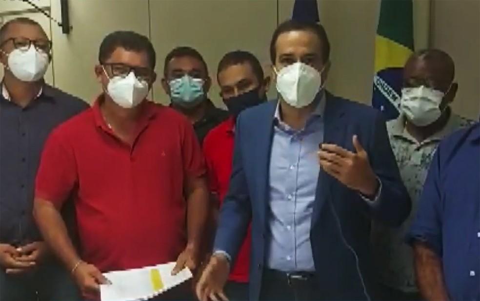 Em vídeo, Prefeito Bruno Reis comentou sobre a assinatura do acordo — Foto: Reprodução/TV Bahia