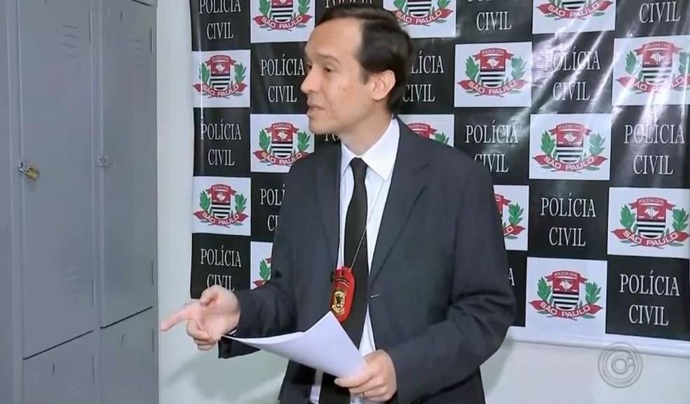 Delegado César Ricardo do Nascimento vai pedir ajuda a setor da polícia especializado em crimes cibernéticos (Foto: TV TEM/Reprodução)