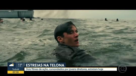 'Dunkirk' e 'Em ritmo de fuga', filmes de ação com algo a mais, são estreias da semana; G1 comenta em VÍDEO