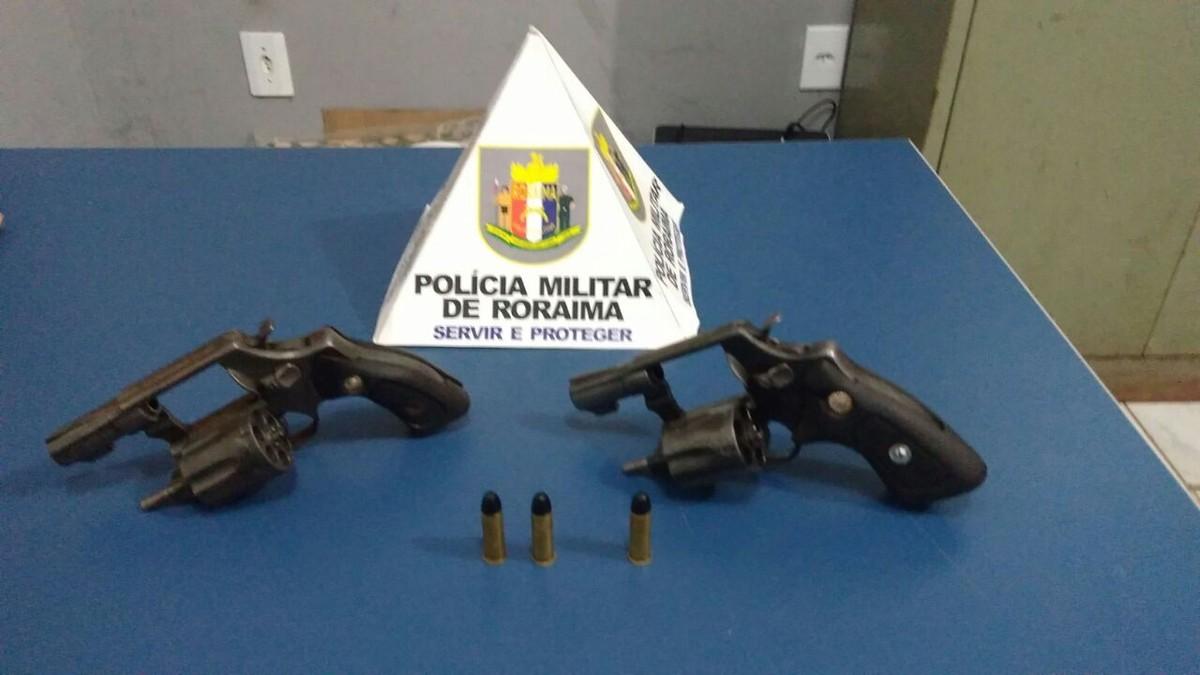 Polícia prende jovem em Alto Alegre, RR, com armas de fogo na cintura e no carro