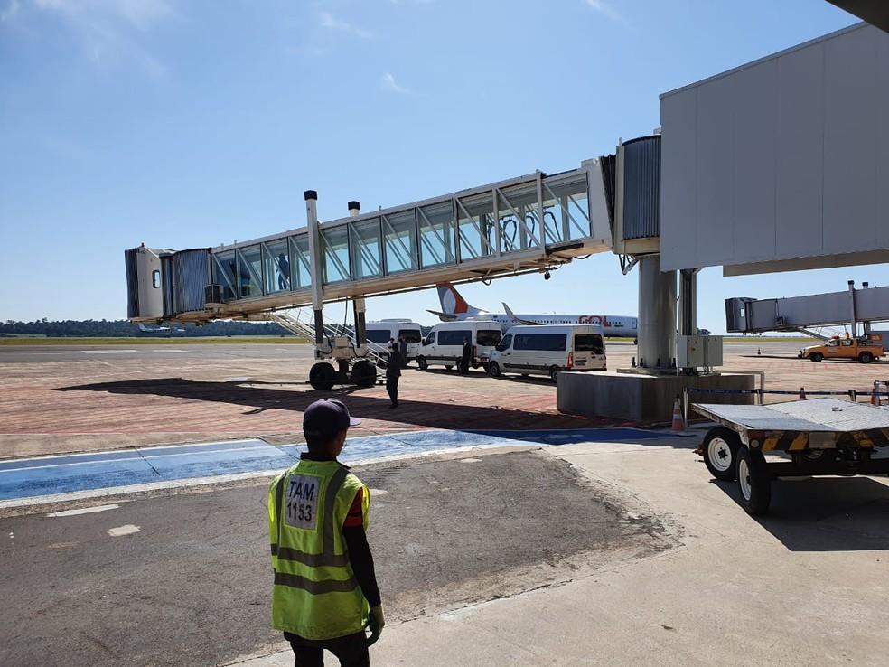 Número de passageiros teve diminuição de quase 50% no 1º semestre de 2020, em relação ao de 2019, segundo a Infraero — Foto: Cassiano Rolim/RPC