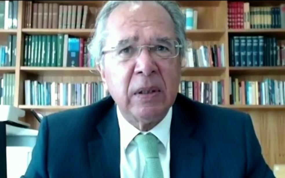 O ministro da Economia, Paulo Guedes — Foto: Jornal Nacional/ Reprodução