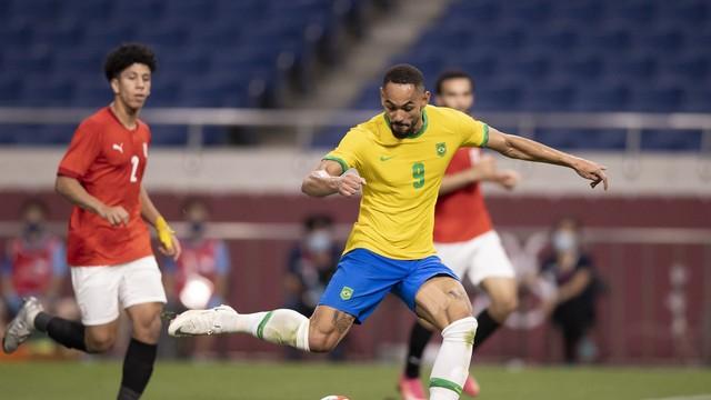 Matheus Cunha fez o gol e se machucou na partida contra o Egito