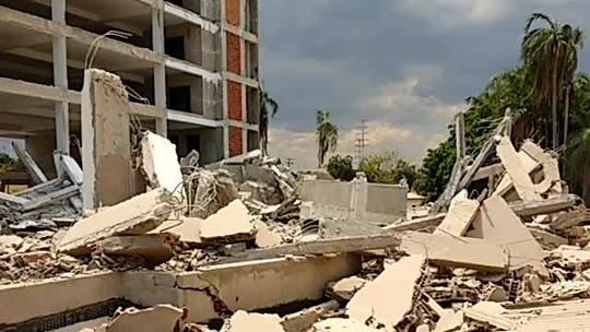 Prédio em construção desaba em Vicente Pires