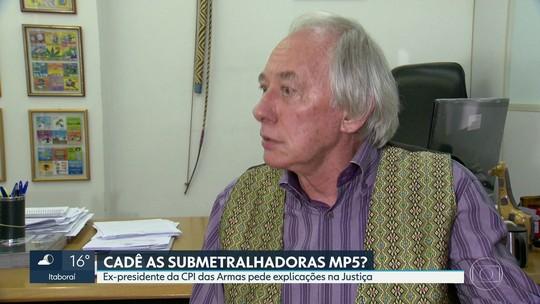 Deputado entra na Justiça pedindo explicações sobre submetralhadoras que sumiram da polícia