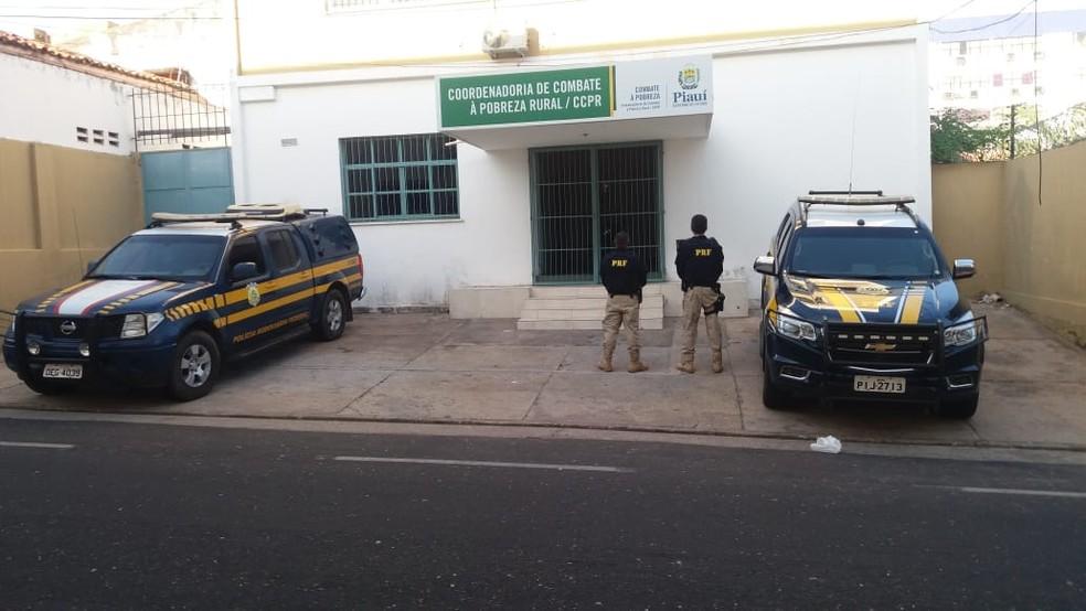 Duas secretarias estaduais, duas coordenadorias estaduais e o Idepi foram alvo de mandados de busca e apreensão — Foto: Divulgação/ PRF