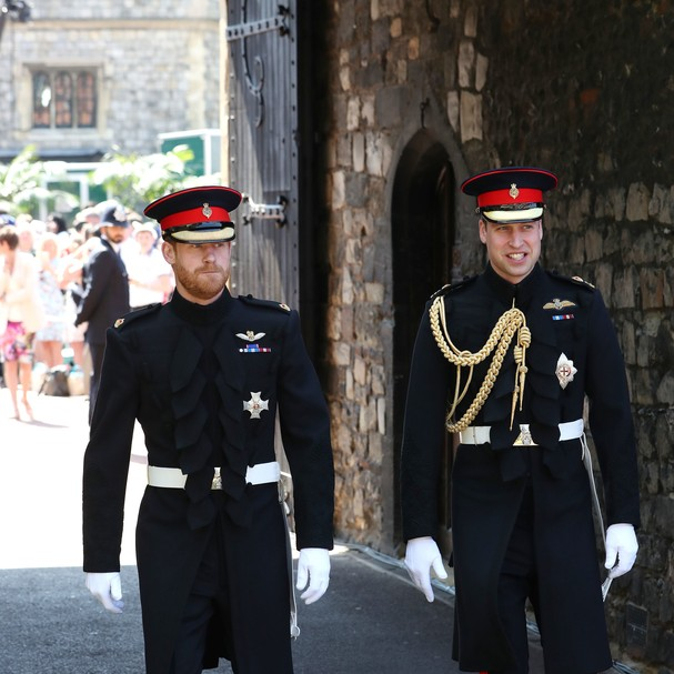 Príncipes: Harry e seu padrinho, o irmão William (Foto: Getty Images)