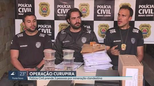Ex-secretário de meio ambiente de Barão de Cocais é preso em ação contra mineração ilegal em MG